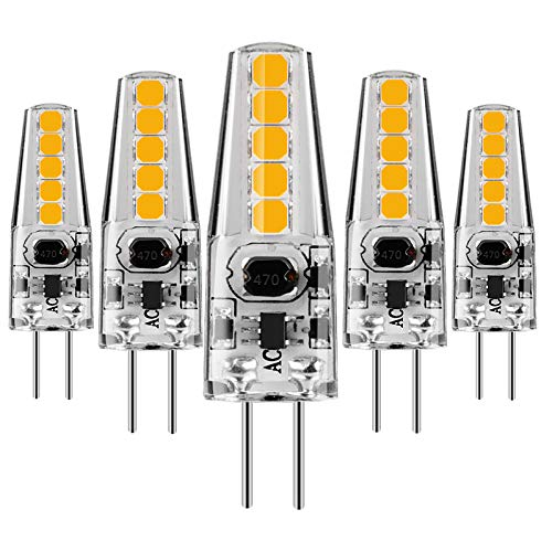 KINDEEP G4 COB LED 1.5W ersetzen 10 Watt Halogenlampe, 100LM Stiftsockellampe, Warmweiß 2800K, DC/AC 12V, 6er-Pack
