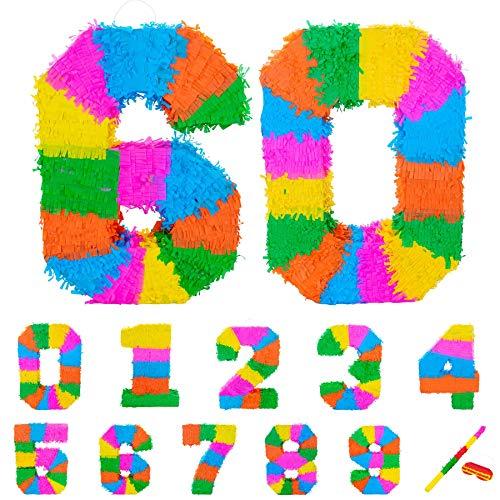 Fax Potato Pinata Set mit Stick & Blindfold - 60. Geburtstag/Jahrestag - Rainbow (Dekoration Mayo, Ideen Cinco De)