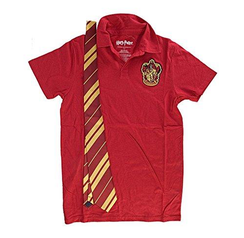 Harry Potter Gryffindor Rot Kostüm Uniform Polo with Tie (Snape Kostüme Halloween)