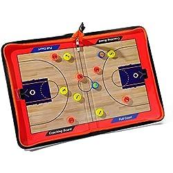 Katech portátil baloncesto tablero de entrenamiento de baloncesto entrenador tácticas borrable magnética tablero Gran baloncesto equipo de capacitación