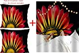 Orgner indischer Mandala-Wandteppich & 2 Kissenbezüge, 16 x 16 cm, Hippie-Wandbehang, Boho, für Yoga & Meditation. Passionsblume, 60 x 60 cm, 1 Stück, Mehrfarbig, 60 x 84