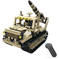 Fantasyworld MoFun-13012 2.4G 4H Carga USB Rocket Bloque de construcción de Caterpillar Armado Lanzador 608pcs DIY eléctrico RC Coche para niños