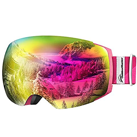 OutdoorMaster Ski Goggles PRO - Frameless, Interchangeable Lens Snow Goggles