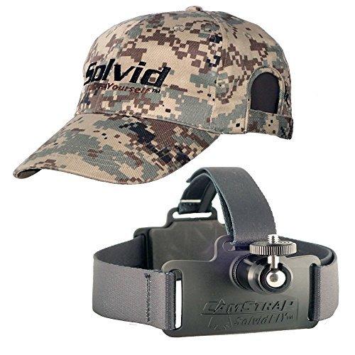 Solvid Premium Universal Head Cam Mount für Jede Kamera, CamStrap Pro, Digital Black Combo, One Size Fits Most - Combo Digital Video