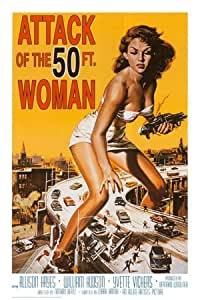 Affiche 'Attack of the 50 ft Woman', Taille: 61 x 91 cm