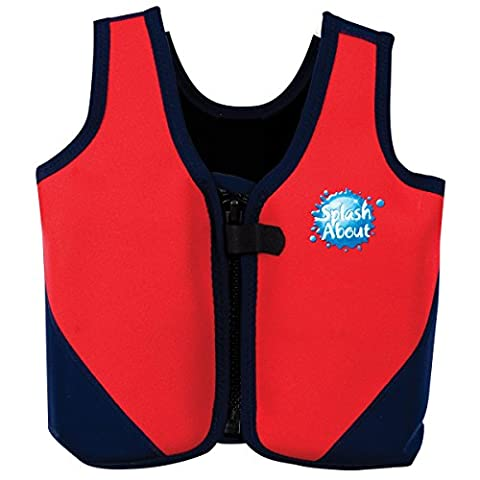 Splash About Adult Neoprene Float Jacket with Adjustable Buoyancy - Red/Navy, XL 44-48 Inch