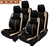 #9: Autofact AF04 Art Leather Car Seat Covers Honda Brio (Black / Beige)