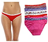 Christian siriano nueva york algodón bragas/Bikini ropa interior (Pack de 6)