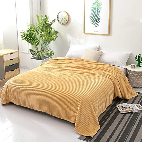 Fleece Wurfdecken Super Soft Fluffy Warm Solid Bed wirft für Sofa Luxus Mikrofaser Decke Kamel König Größe 200 x 230 cm ()