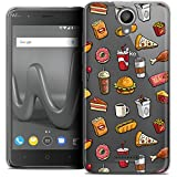 Coque Wiko Harry (5 ) CASEINK Housse Etui [Crystal Gel HD Collection Foodie Design Fast Food - Souple - Ultra Fin - Imprimé en France]