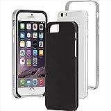 Case-Mate Slim Tough robuste Outdoor Hülle für 11,9 cm (4,7 Zoll) Apple iPhone 6 schwarz/silber