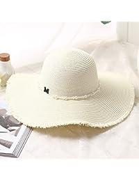 Fashion cap Cappello estivo visiera cappello da sole per donna cappello di  paglia per vacanza al 85d009ff345e