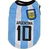 Kaymayn Pet maglia da calcio con licenza Dog jersey, vestiti del cane calcio t-shirt cani costume National Soccer World Cup, abbigliamento sportivo estate traspirante, Argentina, XXL