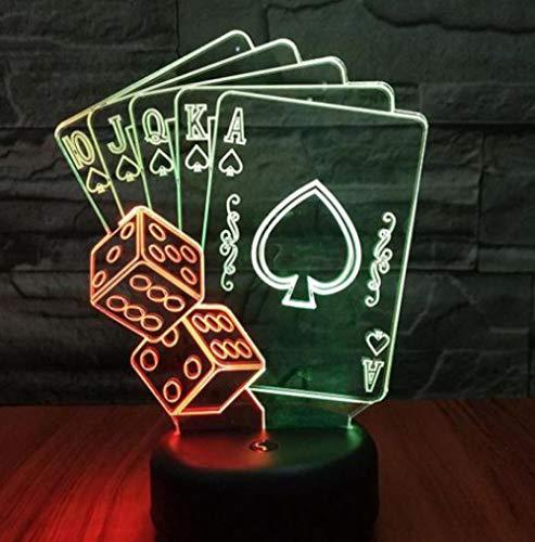 ZJFHL 3D Optische Illusions-Lampen LED Karte 7 Farben Touch-Schalter Ändern Nachtlicht Für Schlafzimmer Home Decoration Hochzeit Geburtstag Weihnachten Valentine Geschenk (Valentine Wars Karten Star)