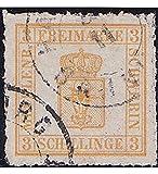 Goldhahn Mecklenburg-Schwerin Nr. 7 II gestempelt Geprüft Briefmarken für Sammler