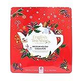 English Tea Shop Collezione di Tè e Tisane Biologici Assortiti in 9 Gusti ai Sapori del Natale in Cofanetto Eco-Box Metallo - 1 x 72 Bustine di Tè (108 Gram)