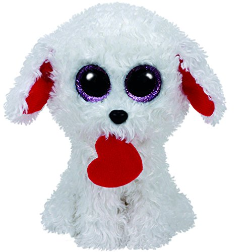 "Beanie Boo Valentine's Dog - Honey Bun - 15cm 6"""