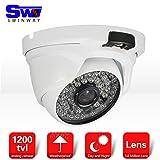 SW 1200 Camera TVL Day & Night Vision cupola di IR esterna del CCTV di sicurezza con 3.6mm ampio angolo di visione 48 LED