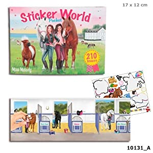 TOP MODEL Stickerworld Miss Melody (0010131), multicolor (DEPESCHE 1)