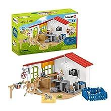 Schleich- Playset Cabinet vétérinaire avec Animaux Farm World, 42502, Multicolore