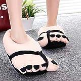 miju Zapatillas Felpa, Diseño Divertido de Dedo del Pies Grandes, Unisex Cálido Suave Zapatillas, Novedad Regalo de Invierno