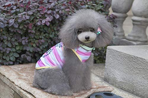 JFFFFWI Hundeweste hundekleidung hundekleidung Weste hundekleidung Gute Partner gestreifte Weste (Farbe: Pink, Größe: - Gute Partner Kostüm