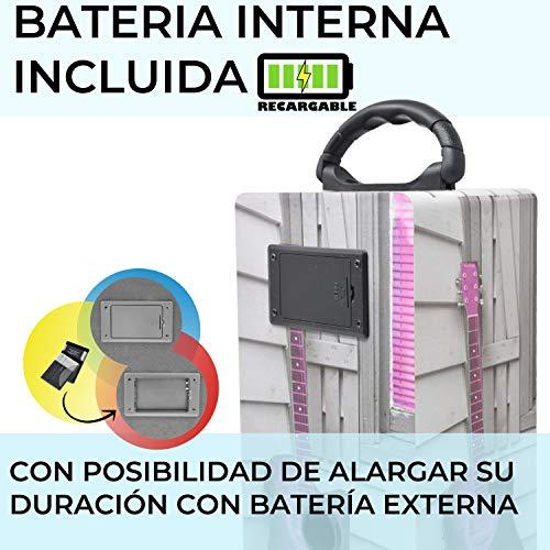 DYNASONIC 025-3 - Altavoz con Bluetooth para Karaoke con micrófono, Multicolor Modelo 3