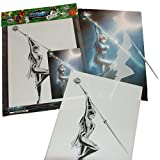 Schneidmeister Airbrush Schablone SPEAR OF MAGIC Stencil, ca. A4, SM-HBSO04
