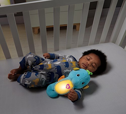 Image of Fisher-Price Soothe and Glow Seahorse (Blue)