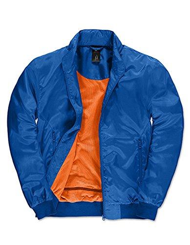 Jacket Trooper /Men, Größe:L, Farbe:Royal Blue-Neon Orange