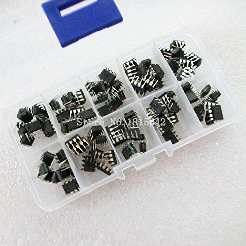 100PCS/Box NE555 UC3842 UC3843 UC3845 24C02 24C04 24C08 24C16 24c32 24C64 DIP IC Sortiments Kit je 10PCS -