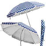 Sombrilla plegable de playa o camping azul de poliéster de 200 cm Garden - Lola Derek