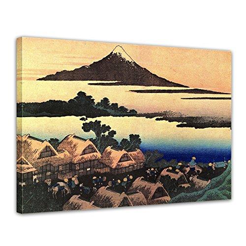 Wandbild Katsushika Hokusai Morgendämmerung bei Isawa in der Provinz Kai - 70x50cm quer - Alte Meister Berühmte Gemälde Leinwandbild Kunstdruck Bild auf Leinwand - Katsushika Hokusai
