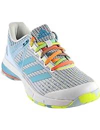 finest selection bcbd4 28d0d adidas Court Stabil 13 Womens Handball Shoe 11 White-Vapour Blue-Solar  Yellow