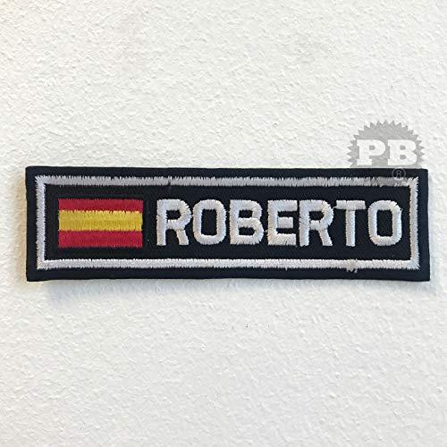 Parche bordado bandera España insignia Roberto planchar