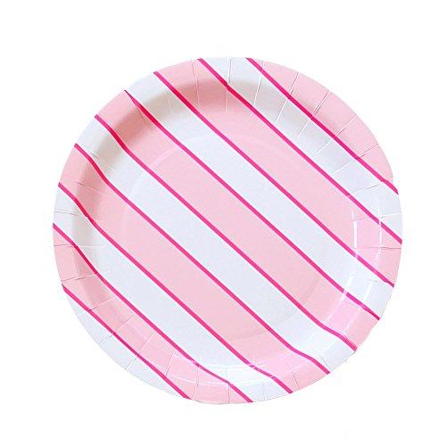 (Bash Party Goods 100101 Flamingo Dot Papierteller, Papier, Rose)