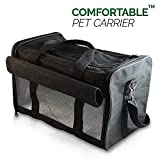 Pet Travel Carrier, Soft Sided with Pet Mats- Airline Approved Dog/Cat Carrier - Foldable Superior Ventilation - Your Pet Will Love It!
