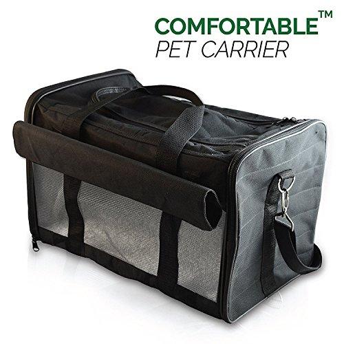 PetsN'all Haustier Tragetasche für Unterwegs - Hundetransportbox Faltbar - Für Hunde, Katzen, Hasen und andere Haustiere - Ideal für Zug, Flugzeug, Auto - Für Tierarztbesuche und Transport in öffentlichen Verkehrsmitteln
