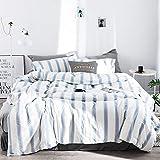 Kexinfan Bettbezug Washed Baumwolle Vierteilig Baumwolle Plaid Bett Wind Bett Einfache Baumwolle Bettwäsche, Bett, Bonidos, 2,0 M (6,6 Ft) Bett