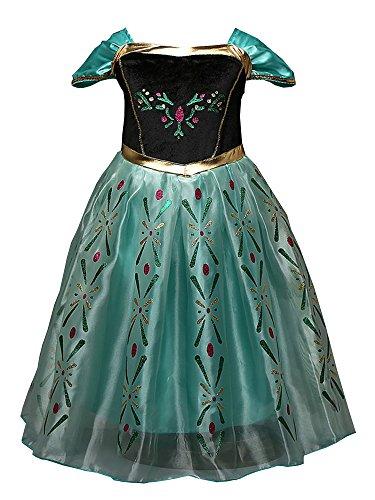 Eiskönigin Prinzessin Kostüm Kinder Kleid Mädchen Weihnachten Halloween Geburtstag Festliche Karneval Party Verkleidung Festkleid (Unter $10 Halloween Für Kostüme 2017)