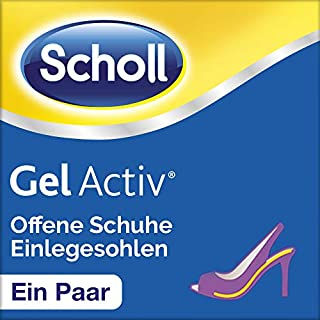 Scholl Gel Activ Einlegesohlen für offene Schuhe - Transparenter Komfort in offenen Schuhen - 1 Paar, passend für Schuhgröße 35-40,5