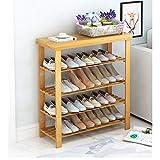 Xie Schuhschrank- Schuhschrank, Mehrschichtig Einfache Haushaltswirtschaftliche Tür Schuhschrank Staubdichtes Massivholz Montage Multifunktionsschuh Bank Schuhschrank (Farbe : 4-Tiers, größe : 50cm)
