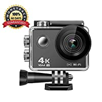 4K Action Camera ANMADE, 16MP WiFi Anti-Shake Waterproof Sports Camera with SONY Sensor, 170 Degree Ultra Wide Angle 2.0 Inch LCD Screen, Rechargeable Battery, Ton of Accessories