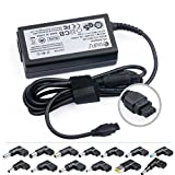 TAIFU Chargeur Universel 65W Pour PC Portables15 Embout Adaptateur Universel Pour Acer,Dell,Fujitsu Siemens, MSI, VISO, Gateway, LG, IBM, LENOVO, Toshiba, Medion, HP, Compaq, Delta, Asus, Acer Aspire R14, Asus UX303LA UX32VD F751MA F555UA F556UA X556UA X553M X553MA X551CA X550C X501U Inspiron 11, 14,HP 250 G3, 355 G1, 355 G2,Chromebook CB3 CB5,Aspire S3 E15 ES1, LED LCD Monitor, Sony VAIO PCGA-AC19V,Yoga 11 11s 13 2 Pro X1 Carbon, T,X R SL Serien, PA-12,Compaq 610 615