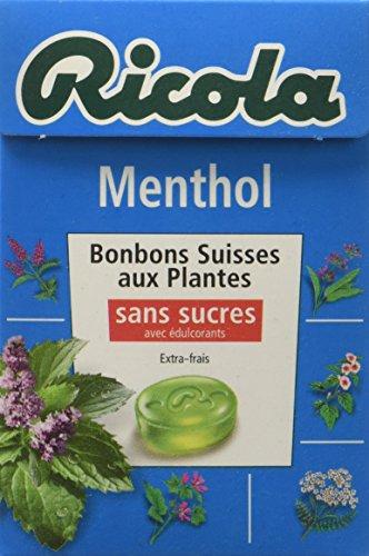 Ricola Bonbons Suisses aux Plantes Menthol sans Sucres 50 g - Lot de 5