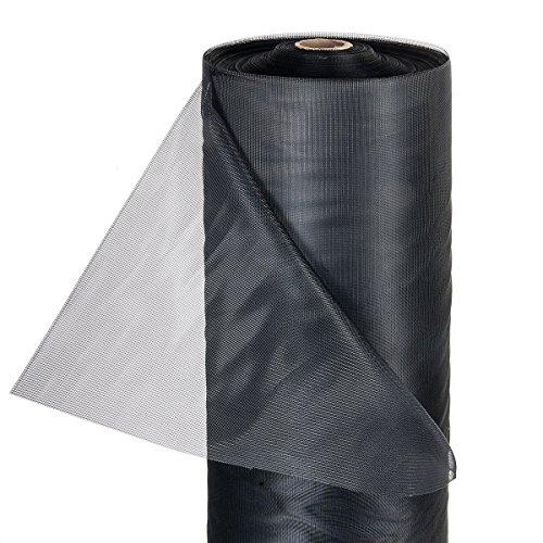 HaGa® Insektennetz Moskitonetz Fliegennetz in 150cm Breite schwarz (Meterware)