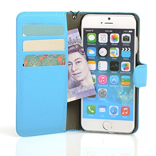 Genuine MadCase? Clear Transparent Ultra Thin Slim Crystal Back Cover Case for Apple iPhone 5 16GB 32GB 64GB - includes Screen Protector and Cloth grainé synthétique Doux - Bleu Pale