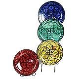 Simandra Orientalischer Keramik Teller handbemalt marokkanische Keramikschüssel Wandteller mittel Color Rot - 4