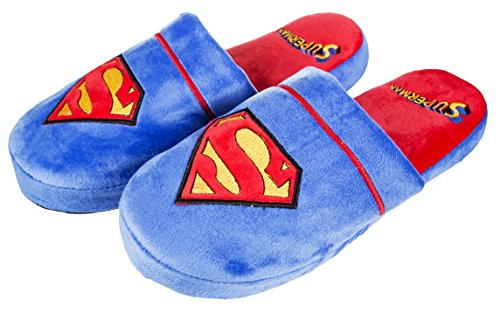 DC Comics Superman Slip On Slippers 8-10