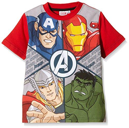 AVENGERS - Camiseta Manga Corta Star Wars, T-Shirt da bambini e ragazzi, Rosso, T04 anni